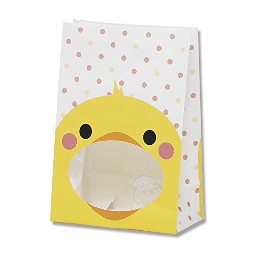 ヘイコー 紙袋 窓付 S1F ヒヨコ 12x6.5x17.5cm 50枚