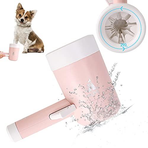 Zubita Taza de limpieza para mascotas, 2 en 1 limpiador de patas, cepillo de limpieza desmontable...