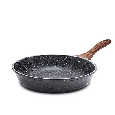 Sensarte 9.5/11-Inch Nonstick Frying Pan Skillet, Swiss Granite Coating Omelette Pan, Healthy Stone Cookware Chef's Pan, PFOA Free (9.5 Inch )
