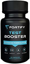 Fortify Supplements - Test Booster Advanced Formulation (60 Caps) | Clinically Dosed Testosterone Booster for Men | Male Size Enhancement Workout & Muscular Pills for Stamina, Endurance & Strength