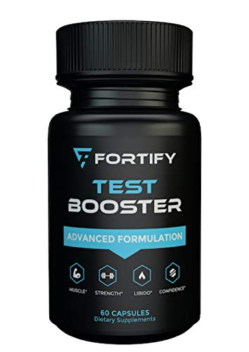 Fortify Supplements - Test Booster Advanced Formulation (60 Caps) - Clinically Dosed Testosterone Booster for Men - Male Size Enhancement Workout & Muscular Pills for Stamina, Endurance & Strength