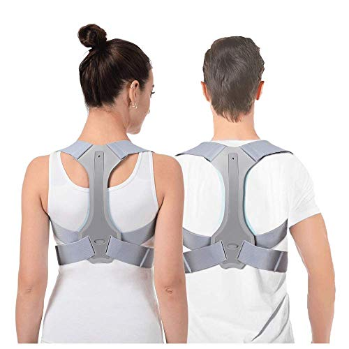Posture Corrector for Men and Women Upper Back Brace for Clavicle Support Adjustable Back Straightener and Providing Pain Relief from Neck, Back & Shoulder (L: 33-37 in)