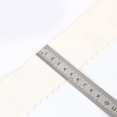 Aiyow Naaimaskers Elastische band Elastisch touw Hoge elastische plaat DIY naaiende tailleband voor masker.Beige halve maan 5CM * 1M