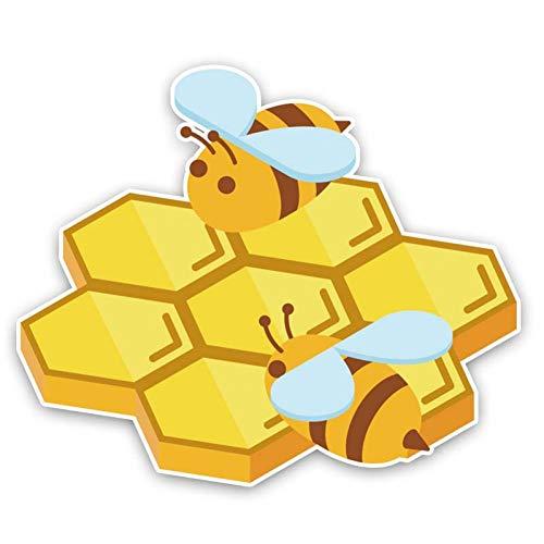 CTMNB autosticker 15,6 cm * 13,1 cm De Bijen lag op de honing-Brett Interessante aftrekplaat-autosticker PVC