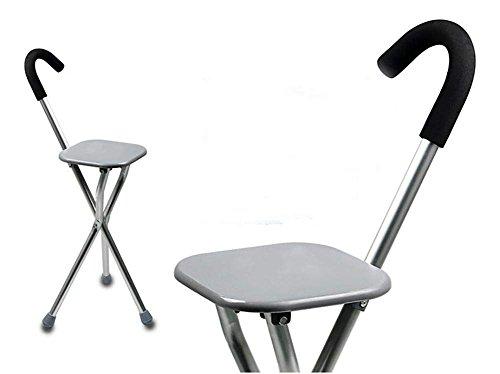 Bastón con asiento plegable,Caminando Cane Asiento Silla plegable Stick Sillón portátil médico
