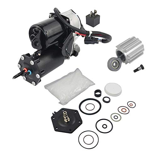 YY-US LR023964 Air Suspension Compressor Pump HITACHI Style with Repair Kit Fit for La-nd Rover Discovery 3 2004-2009 Range Rover Sport 2005-2009 LR072537 LR045251 LR061663