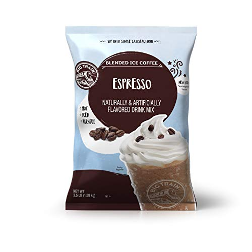 Big Train Blended Ice Coffee, Espresso, Powdered Instant Coffee Drink Mix, 3.5 Pound (Pack of 1) (Packaging may vary)