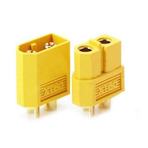 Funcional 5 Pares de Nylon XT60 T- Enchufe para Enchufe de Potencia lipoic RC Gold Adaptador de Enchufe Resistencia