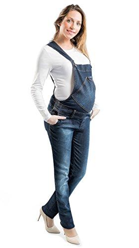 Salopette Premaman di Jeans - Tuta per Donna in Gravidanza Made in Italy (L)