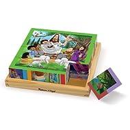 Melissa & Doug New Testament Bible Stories Wooden Cube Puzzle - 6 Puzzles in 1 (16 pcs)