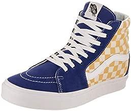 Vans Unisex Adult (BMX Checkerboard) True Blue/Yellow SK8-Hi VN0A38GEU8I Mens 12, Womens 13.5