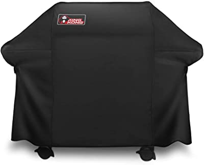 Kingkong Gas Grill Cover 7553 | 7107 Cover for Weber Genesis E and S Series Gas Grills Includes Grill Brush, Tongs and Thermometer (Renewed)