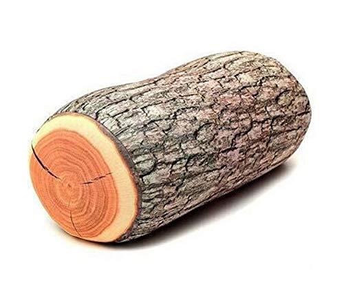 Unbekannt DS STYLISCHES Holz Kissen DEKO NACKENKISSEN Baum-stamm