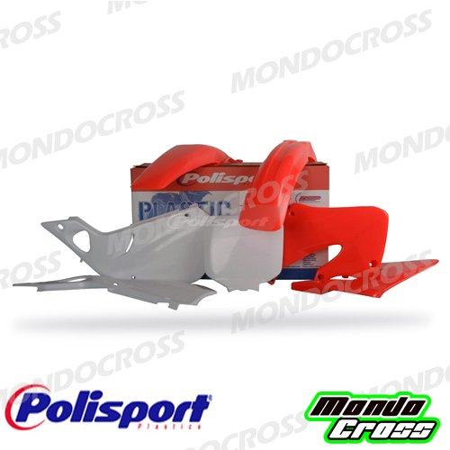 mondocross Kit plastiche Cross MX Polisport Rojo Fluo blanco Honda CR 12598–99Cr 25097–99