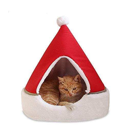 Equipo para el hogar Árbol de Navidad Camas para gatos para gatos de interior Arena para gatos Invierno Cálido Perro Casa para gatos completamente cerrada Casa Four Seasons Universal House Bed Sumi