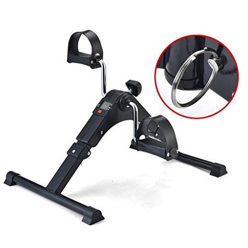 Bicicletas Sencillo Ejercicios de Entrenamiento Lazy Rehabilitación Home Mini Plegable Sentado Horizontal Ejercicio (Color : Black, Size : 41 * 55 * 45cm)