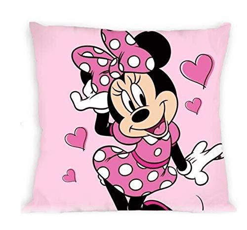 Disney - Federa per cuscino, motivo Topolino e Minnie Mouse – 40 x 40 cm stampato su entrambi i lati – idea regalo (Minnie 04)
