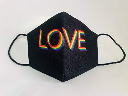 Mascarilla reutilizable love negra lgtb orgullo gay original elegante...