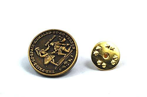 Gemelolandia | Pin de Traje Medalla Blas de Lezo | Pines Originales y Baratos Para Regalar | Para Camisas, Chaquetas, Jerséis o para tu Mochila | Detalles Divertidos
