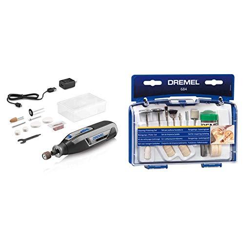 Dremel Lite 7760 N/10 4V Li-Ion Cordless Rotary Tool Variable Speed Multi-Purpose Rotary Tool Kit & 684-01 20-Piece Cleaning & Polishing Rotary Tool Accessory Kit
