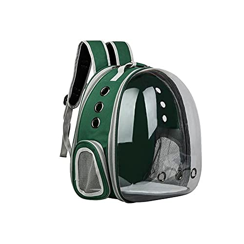 WUHUAROU Mochila portátil para gatos para mascotas, mochila plegable multifunción para mascotas, bolsa para transporte de perros, cápsula espacial, mochila con hombros de burbujas para mascotas, jaula
