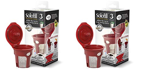 2 Solofill K3 Chrome CUP Chrome Refillable Filter Cup...