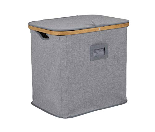 Bo-Camp Urban Outdoor 1609325 Wäschekorb Shoreditch Wäschetruhe Wäschebox Wäschesammler Leinen Optik