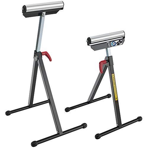 AREBOS 2x Rollenbock Belastbarkeit: 90 kg/klappbar/höhenverstellbar/GS geprüft