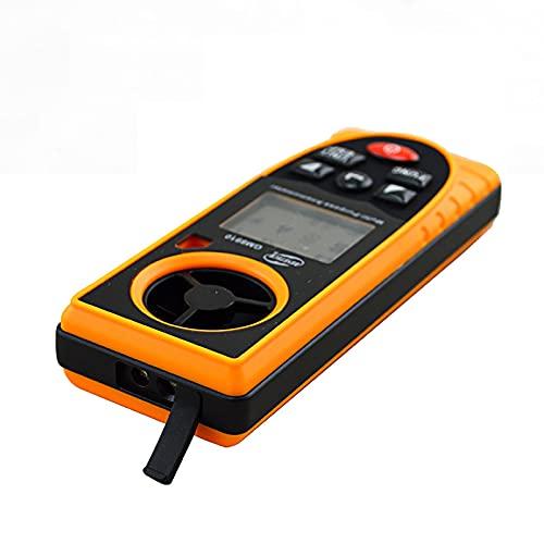 Goodvk Anemómetro Multifunción Meter DE Velocidad DE Velocidad DE Velocidad DE Velocidad Y Metro DE HUMEDADES Sensor DE PRESIÓN ATMOSFÉRICA DE ALTITUD DE ALTITUD Pequeño y Ligero