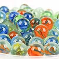 Every pack contains high quality milkY is 16-18 mm in diameter. This marbles can be used as crafting, home decor, gardening or educational a marbles (Approx 1kg). Each marble ids. Made from tempted glass with beautiful design. Kids traditional toys. ...