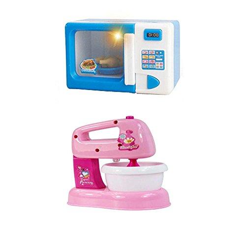 Black Temptation Lovely Home Appliance Model Toys Jouets éducatifs pour Enfants, Four à Micro-Ondes et mélangeur