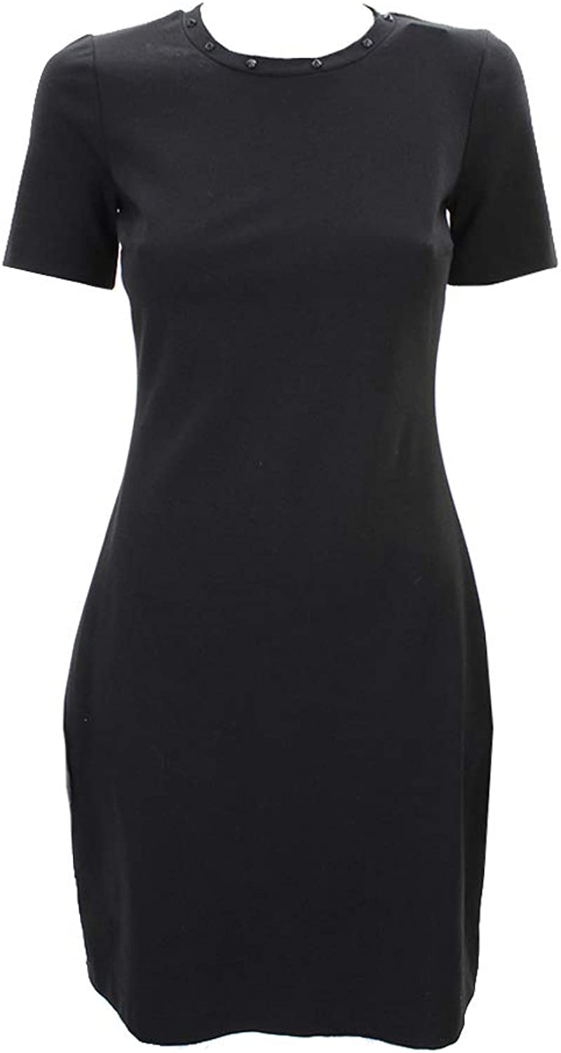 Kenneth Cole New York Womens Lily Ponte Studded Wear to Work Dress