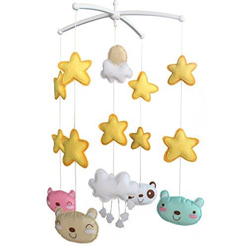 Berceau de lit de bébé rotatif coloré jouets de bébé [Un ours mignon]