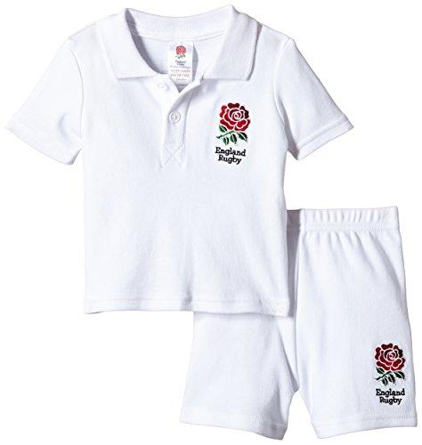 Brecrest Fashion England RFU Ensemble, Blanc - Blanc, 6-9 Mois Bébé garçon