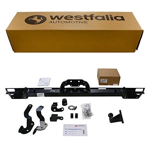 Westfalia Starre Anhängerkupplung (4-Loch) für Fiat Ducato, Peugeot Boxer, Citroen Jumper Kasten/Kombi (BJ ab 02/11) im Set mit 13-poligem fahrzeugspezifischen Elektrosatz