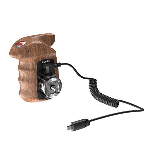 SMALLRIG Fernauslöser Griff (Rechte Seite) mit Start/Stopp-Taste und Holzgriff für Sony Spiegellose Kameras - HSR2511