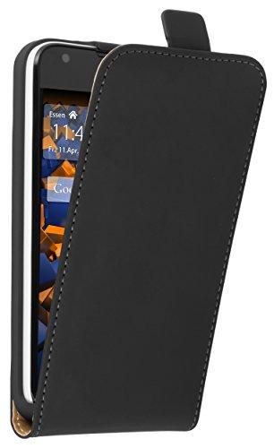 mumbi Tasche Flip Case kompatibel mit Huawei Ascend Y550 Hülle Handytasche Case Wallet, schwarz