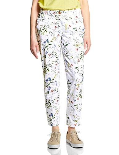Cecil Damen 372112 New York Flower Hose, White, W28/L28(Herstellergröße:28)