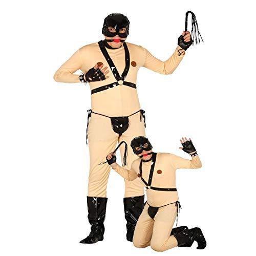 Costume bondage divertente Outfit fetish addio al celibato L 52/54 - Schiavo del sesso addio al nubilato Travestimento di carnevale divertente sadomaso Vestito singolare festa in maschera Camuffamento da uomo giochi erotici