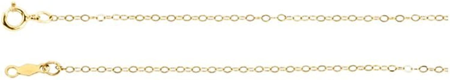 Beautiful Yellow gold 14K Yellowgold Flat Cable Chain With Spring Ring