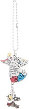 Ganz Car Charm Never Drive Faster than Your Guardian Angel Can Fly