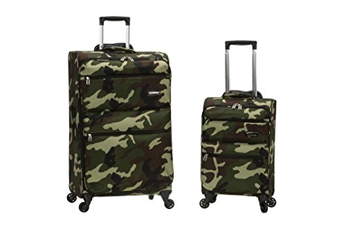 Rockland Gravity 2-Piece Softside Lightweight Spinner Luggage Set, Camouflage, (20/28)