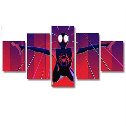 5 Piezas De Lienzo De Arte De Pared Hombre araña Cuadros De Lienzo Moderno Giclée para Decoración del Hogar (Tamaño Grande 200 X 100 Cm Sin Marco)
