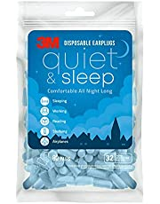 3M Disposable Earplugs, Hearing Protection for Quiet & Sleep, Light Blue, 32 NRR, 80 pairs in a resealable bag