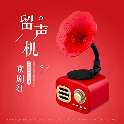 Kreative Retro Bluetooth Lautsprecher Grammophon Audio Mini Computer Lautsprecher Smart Speaker Peking Opera Red