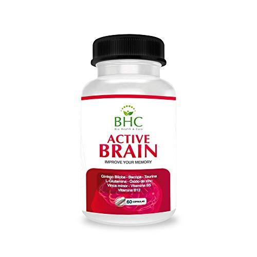 Potente Nootrópico Natural | Aumenta la Concentración y Capacidad de Estudio y Trabajo | Ginkgo Biloba + Taurina + Zinc + Vitamina B12 y B5 | Potencia la memoria | Aporta Vitalidad | 60 cápsulas