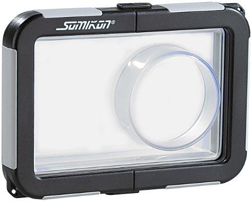 Somikon Custodia Rigida Waterproof Fino A 10 Metri Per Fotocamere 99 X 64 X 25 Mm Con Zoom Diam 45 Mm
