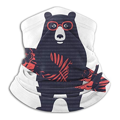Bear Surfer - Pañuelo para cuello, diseño de oso surfista