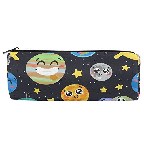 shinesnow Hand Drawn Solar System Sonne Mond Bleistift Pen Tasche mit Reißverschluss für Mädchen Kinder Schule Student Stationery Office Supplies