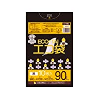 サンキョウプラテック エコ袋 90L 0.035厚 黒 10枚入×40冊 UN-97